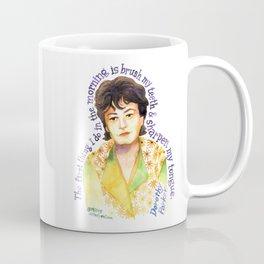 Dorothy Parker by dotsofpaint studios Coffee Mug