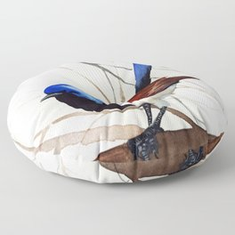 Bird watercolor by Anne Gorywine Floor Pillow