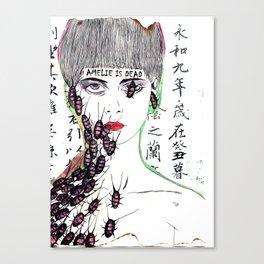 Amelie is dead Canvas Print