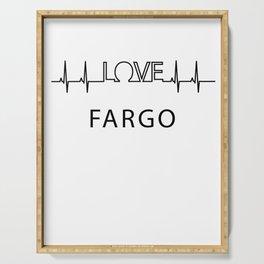 Fargo heartbeat. I love my favorite city. Serving Tray