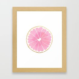 Grapefruit Love Framed Art Print
