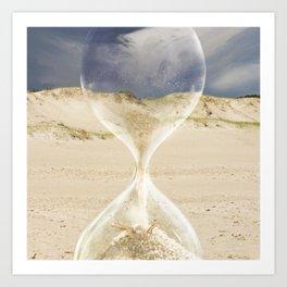 To the desert - time Art Print