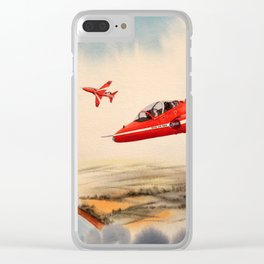 BAe Hawk Aircraft The Red Arrows Clear iPhone Case