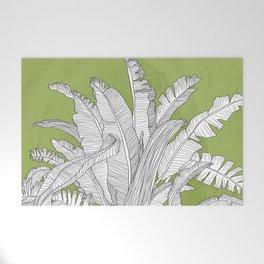 Banana Leaves Illustration - Green Welcome Mat