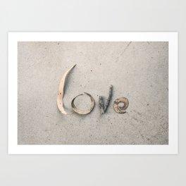 4 Letters Art Print