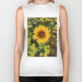 you can't have enought sunflowers Biker Tank