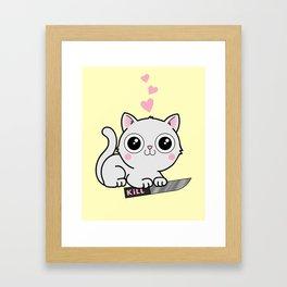 Kitty Hearts Kill - Cats Love Plotting Framed Art Print