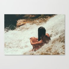 girl in river Canvas Print