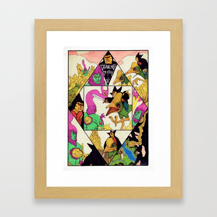 Crawling Crystal Framed Art Print