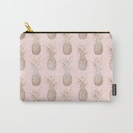 Golden and blush pineapples pattern Carry-All Pouch