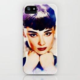 Audrey Hepburn, Hollywood Legend iPhone Case