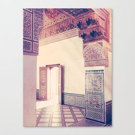 Light Streams Through Moroccan Arch Fine Art Print Canvas Print