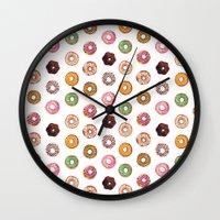 donuts Wall Clocks featuring Donuts by BySamantha | Samantha Ranlet
