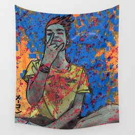 Dudu Ignites the Blue Flame Wall Tapestry