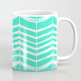 Minty Herringbone Coffee Mug