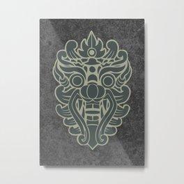 Barong, Balinese mask / The Beach movie Richard's t-shirt Metal Print