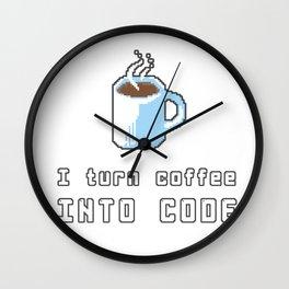 I turn coffee into Wall Clock