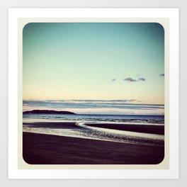 Beach Portmarnock - Instagram Art Print
