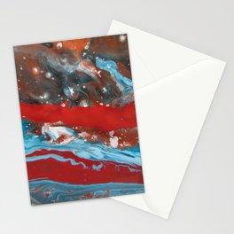 RIVER RUNS SLOW   Acrylic abstract art by Natalie Burnett Art Stationery Cards