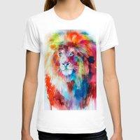 lion T-shirts featuring Lion by Slaveika Aladjova