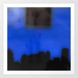 Bruised Skyline Art Print