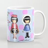 girly Mugs featuring Girly by Ho Man Law