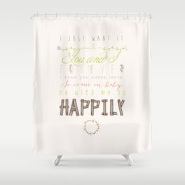 One Direction: Happily Shower Curtain