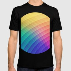 Spectrum Bomb! Fruity Fresh (HDR Rainbow Colorful Experimental Pattern) Mens Fitted Tee Black MEDIUM