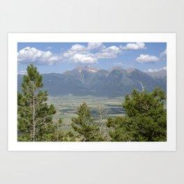 Not Far Now - Mountain Range View Art Print