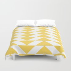 Yellow Triangle Duvet Cover