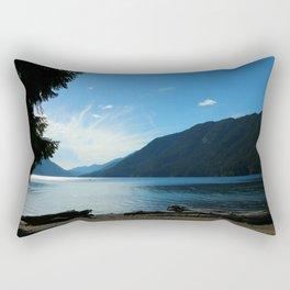 Lake Crescent Shore Rectangular Pillow