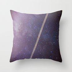 Boeing through the Milky Way Throw Pillow