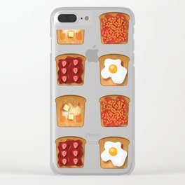 Toasty Toppings Clear iPhone Case