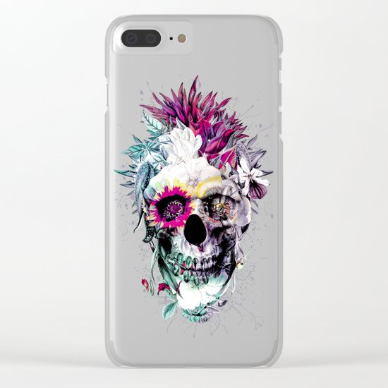 Skull Punk IV Clear iPhone Case