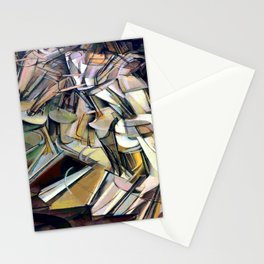Marcel Duchamp Nude Descending a Staircase Stationery Cards