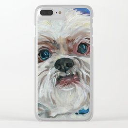 Ruby the Shih Tzu Dog Portrait Clear iPhone Case