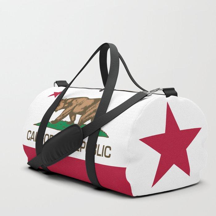 California Republic Flag Bear Duffle Bag