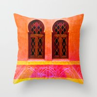 morocco Throw Pillows featuring Morocco  by Xchange Art Studio