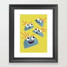 Happy Candy Friends Framed Art Print