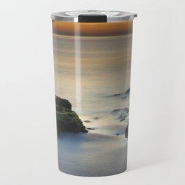 Wet sunset reflections Travel Mug