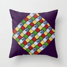 Five Elements Banner Throw Pillow