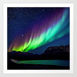 A Spectacle Of Polar Lights | Oil Painting Art Print