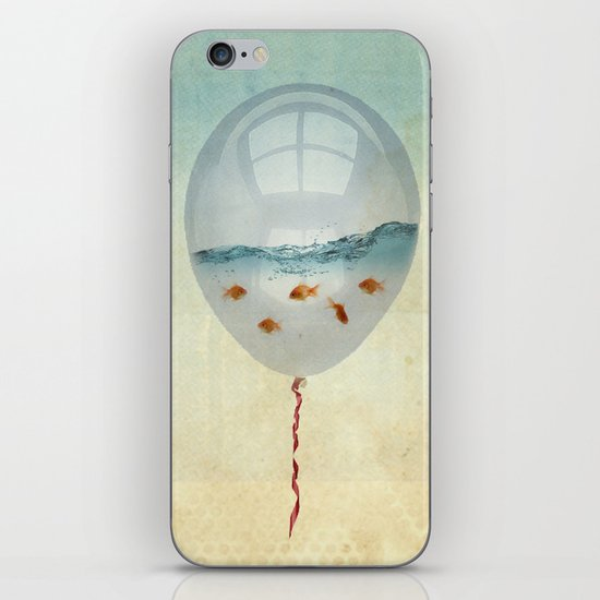 balloon fish o2, freedom in a bubble iPhone & iPod Skin