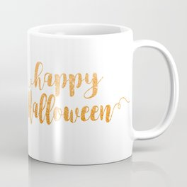Happy Halloween | Orange Glitter Coffee Mug