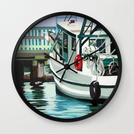 Dock on the Bay Wall Clock