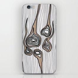 Wood Bones iPhone Skin