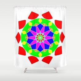 Mandala in vibrant colors Shower Curtain