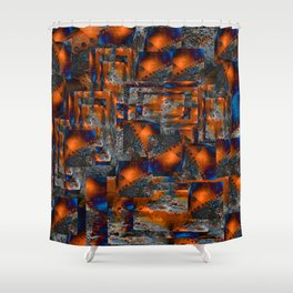 red oxides Shower Curtain
