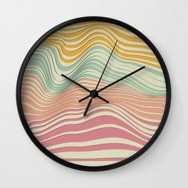 Colored Landscape Wall Clock