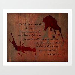 Calvary's Blood Art Print